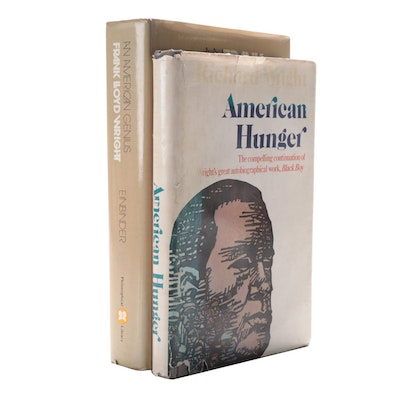 "First Edition ""American Hunger"" by R. Wright with Signed ""An American Genius"""