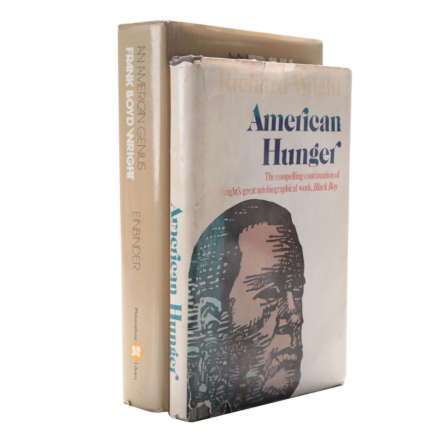 """First Edition """"American Hunger"""" by R. Wright with Signed """"An American Genius"""""""