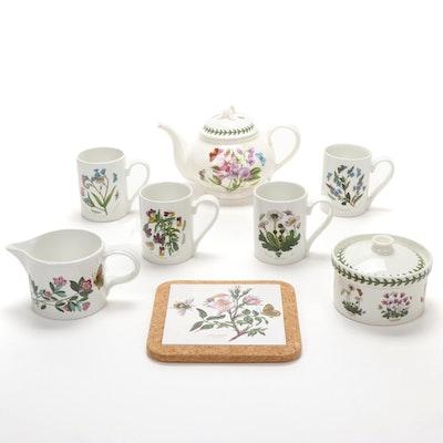"""Portmeiron """"Botanic Garden"""" Porcelain Teapot and Serveware"""