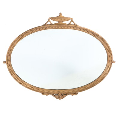 Neoclassical Style Giltwood Overmantel Mirror, 20th Century