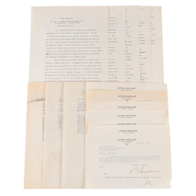 Signed Upton Sinclair Letters to Samuel Marx, 1930s