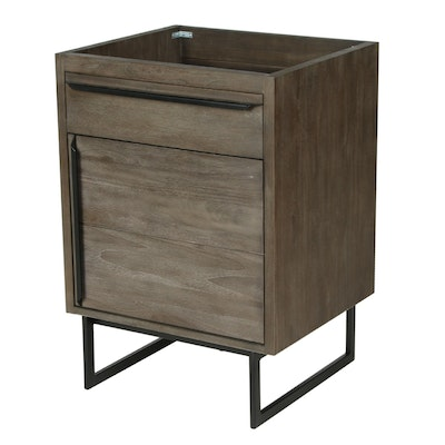 "24"" Teak Gray Finish ""Cael"" Bathroom Vanity Cabinet"
