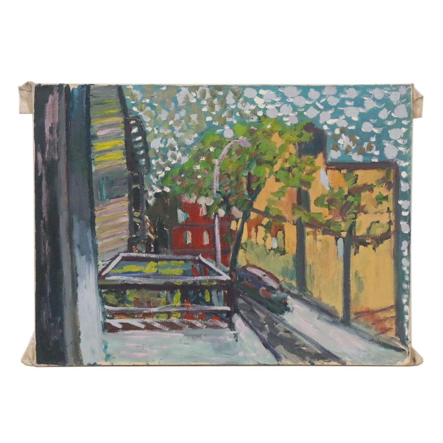 Jerald Mironov Street Scene Oil Painting