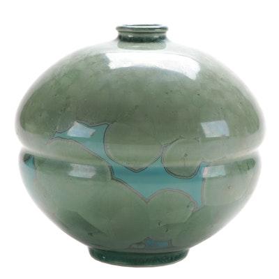 Frank Neef Crystalline Glaze Art Pottery Vase
