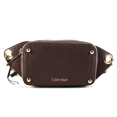 Calvin Klein Sonoma Belt Bag in Brown Faux Leather