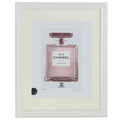 Offset Lithograph after Fairchild Paris of Chanel No. 5 Parfum Bottle