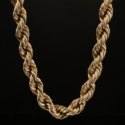 14K French Rope Chain Necklace