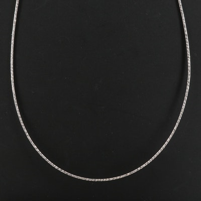 14K Textured Snake Chain Necklace