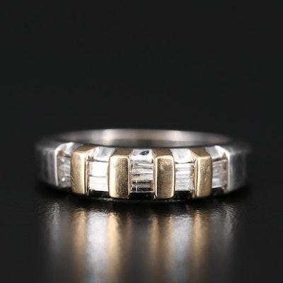 14K Diamond Band