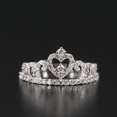 14K Diamond Tiara Ring