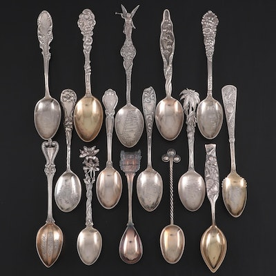 Gorham, Reed & Barton and Other Sterling Silver Souvenir Spoons