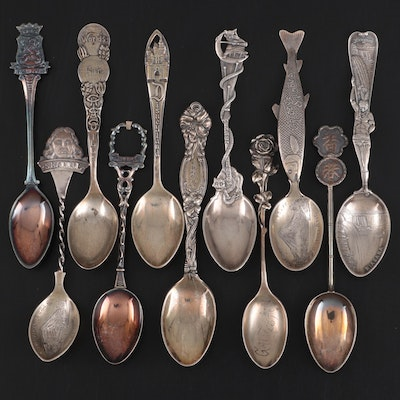 Reed & Barton and Other Sterling Silver Souvenir Spoons