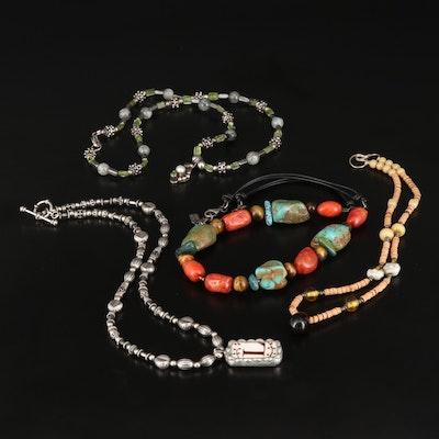 Multi-Gemstone Necklaces Including Sterling