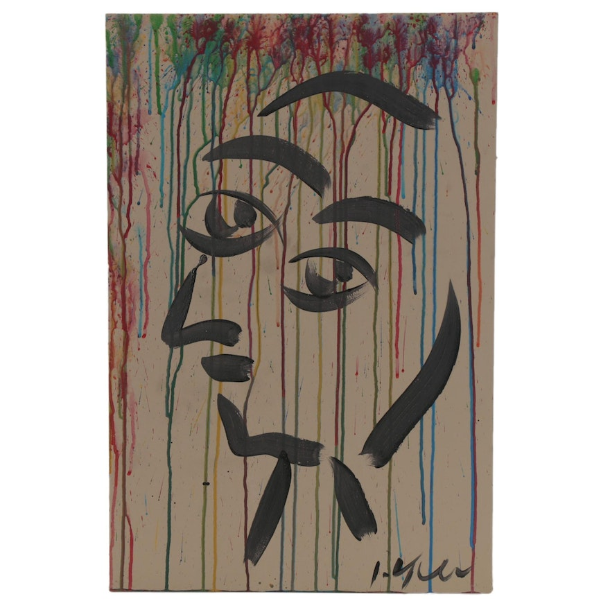 Peter Keil Abstract Mixed Media Portrait