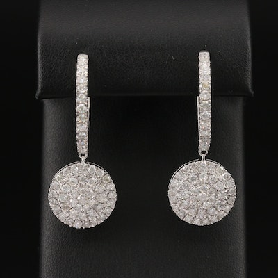 14K 4.00 CTW Diamond Earrings