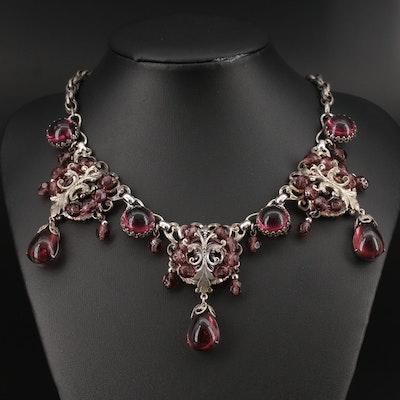 Circa 1930s Czech Glass Necklace