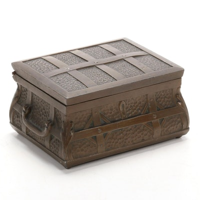 Jennings Brothers Bronze Wood-Lined Box