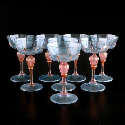 Salviati Venetian Art Glass Champagne Coupes