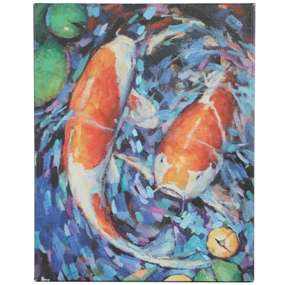 Digital Print of Koi Fish, 21st Century