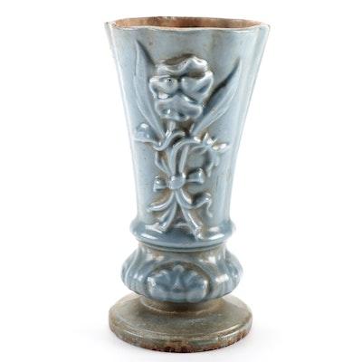 Glazed Stoneware Flower Vase, Early to Mid 20th Century