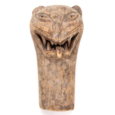 Cameroonian Style Carved Wood Animal Mask