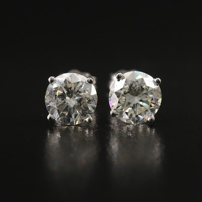 18K 1.86 CTW Diamond Stud Earrings