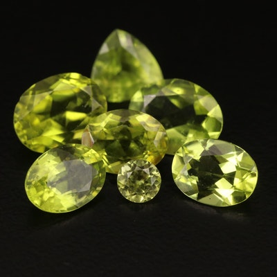 Loose 9.44 CTW Faceted Peridots