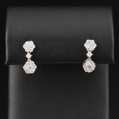 14K 1.02 CTW Diamond Drop Earrings