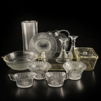 """Anchor Hocking """"Queen Mary"""" with Other Glass Serveware and Table Accessories"""
