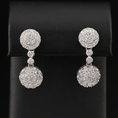 14K 3.01 CTW Diamond Drop Earrings