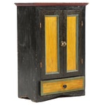 Painted Wood Side Cabinet, Mid-20th Century