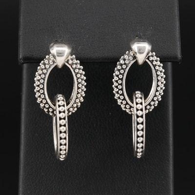 Lagos Sterling Silver Double Oval Hoop Earrings