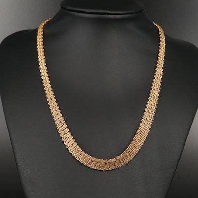 Sterling Silver Riccio Chain Necklace