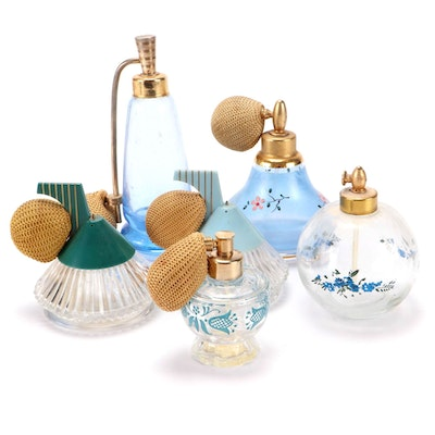 DeVilbiss and Other Glass Perfume Bottles, Early to Mid 20th Century