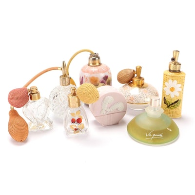Crystal, Glass, and Ceramic Perfume Bottles, Early to Mid 20th Century