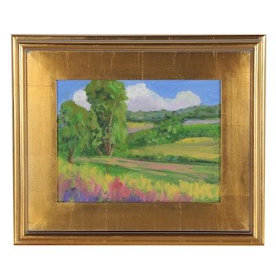 Kenneth Burnside Landscape Oil Painting, 21st Century
