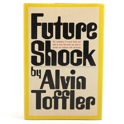 "Signed Early Printing ""Future Shock"" by Alvin Toffler, 1970"