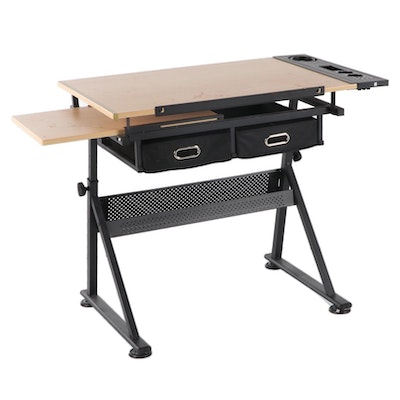 Studio Designs Adjustable Height Tilt-Top Wooden Drafting Table