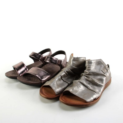 Miz Mooz and Vionic Metallic Sandals