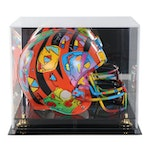 Peter Max Mixed Media Painting on Football Helmet, 2007