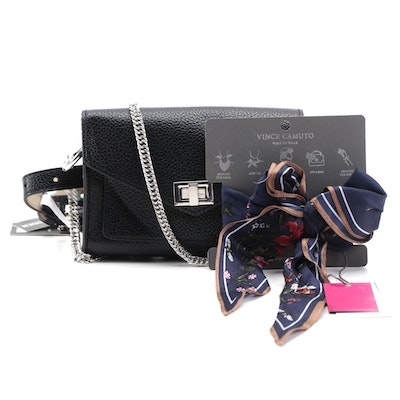 Steve Madden Two-Way Belt Bag and Vince Camuto Floral Multi-Way Scarf