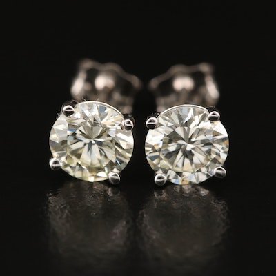 14K 1.54 CTW Diamond Stud Earrings with GIA eReports