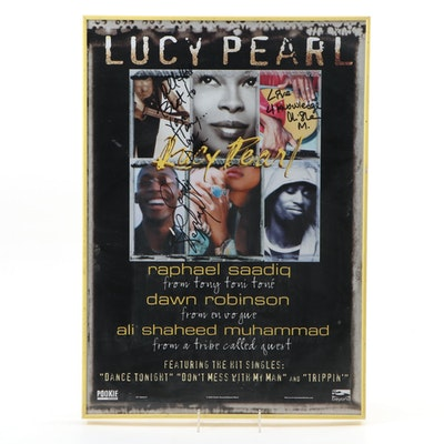 Framed Autographed Lucy Pearl Poster