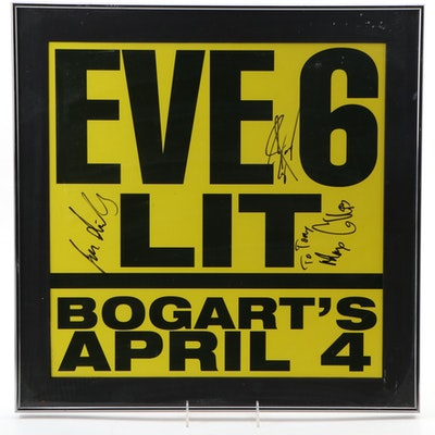 Eve 6 at Bogart's Autographed and Framed Poster