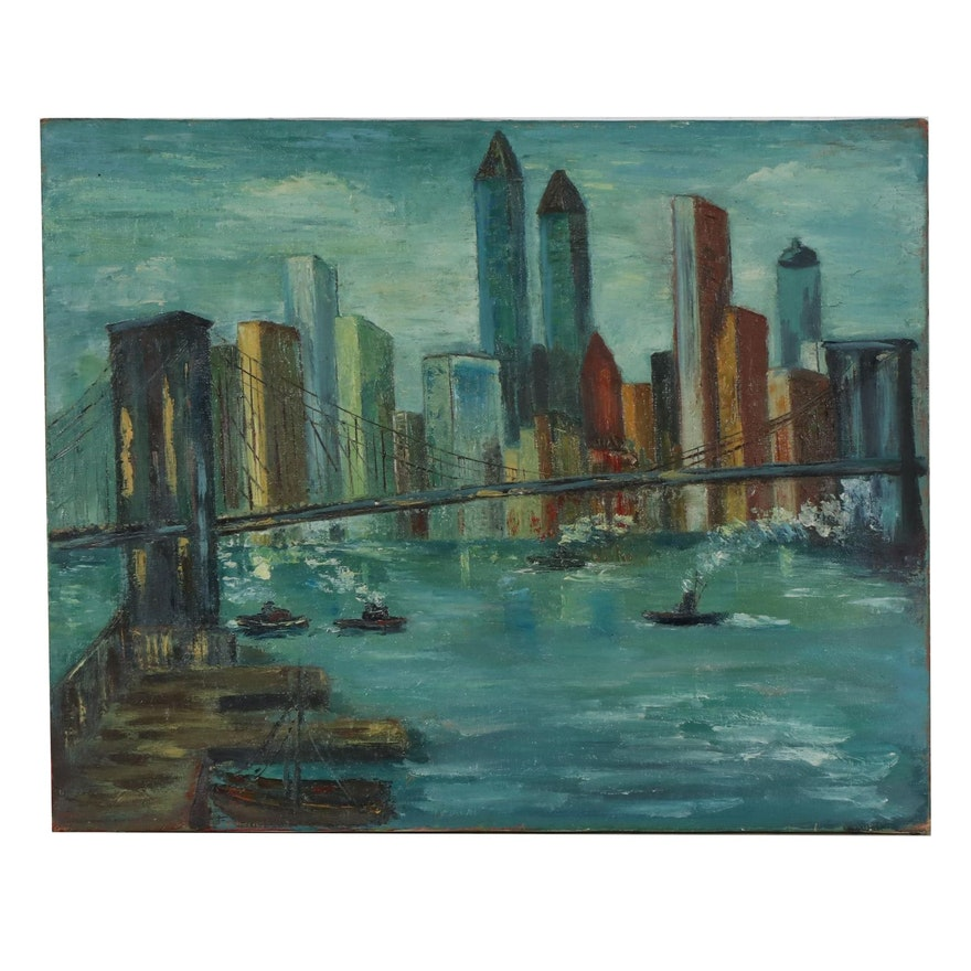 Oil Painting of Cityscape