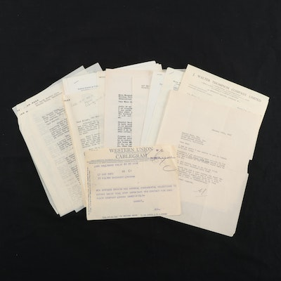 """The Black Bag"" and ""The Country Doctor"" Correspondence and Telegrams, 1950s"