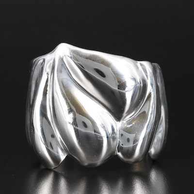 Mexican Sterling Contour Cuff