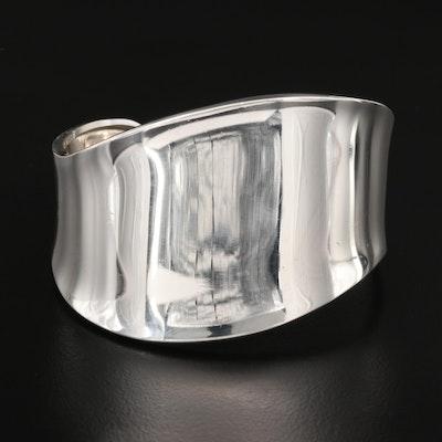 Mexican Sterling Silver Contour Cuff