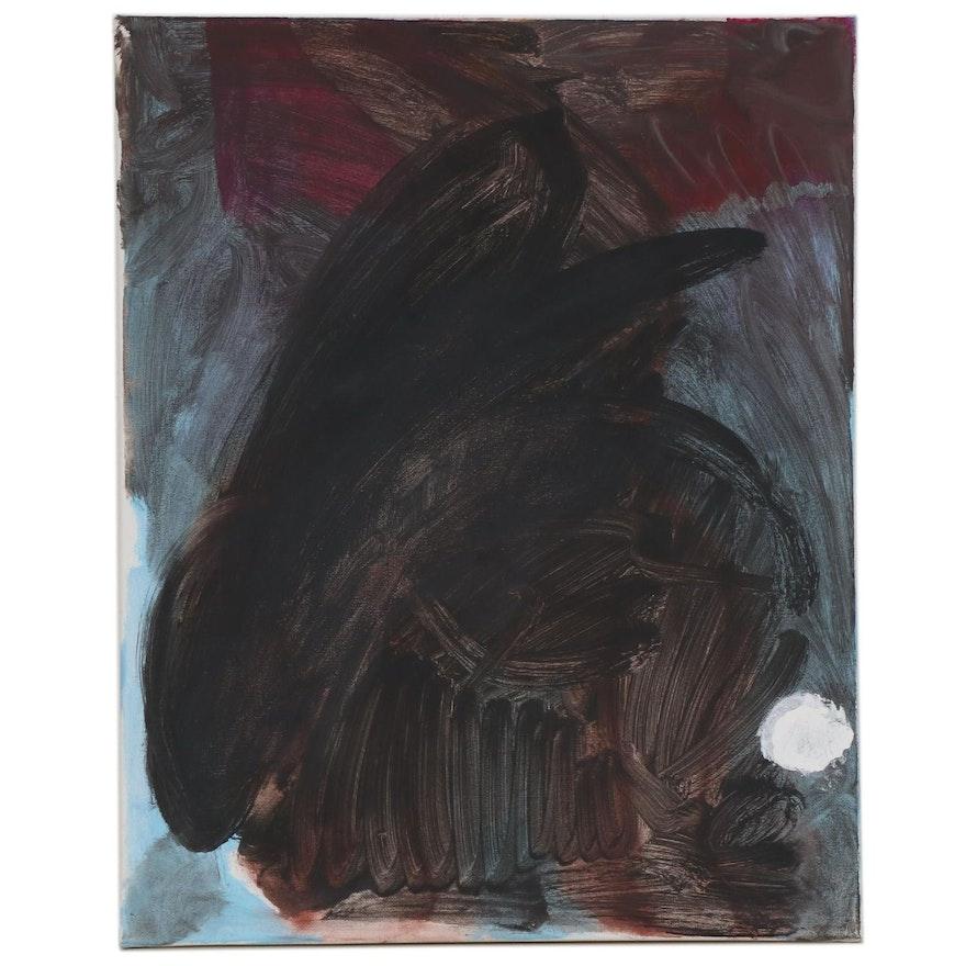 "Philip the Transplant Acrylic Painting ""Rabbit,"" 2020"