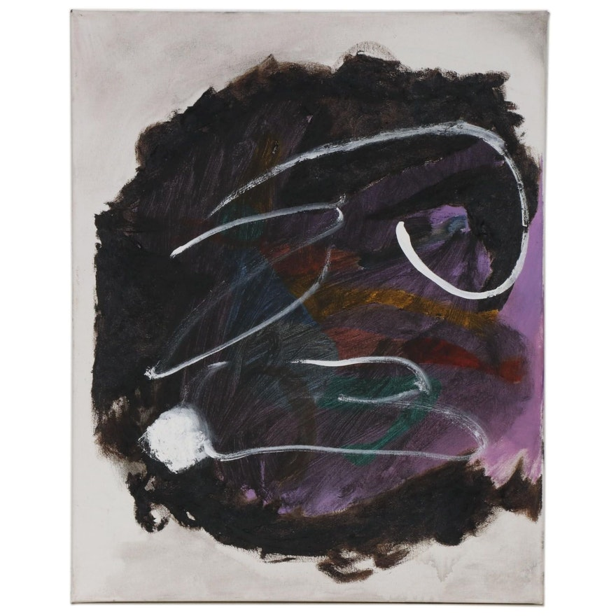 "Philip the Transplant Mixed Media Painting ""Rabbit,"" 2020"